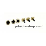 """глазки для игрушек (черные с золотом) купить в украине в интернет-магазине """"пряжа-shop"""" 3614 priazha-shop.com 4"""