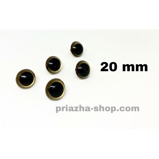 """глазки для игрушек (черные с золотом) 20мм купить в украине в интернет-магазине """"пряжа-shop"""" 3619 priazha-shop.com 2"""
