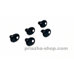 Глазки для игрушек (черные с белым зрачком)
