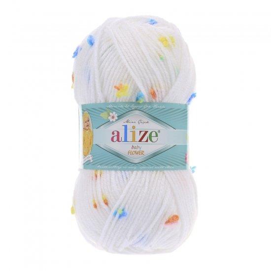 """пряжа alize baby flower 5380 ( ализе беби флауер ) вязаная детская одежда, игрушки, аксессуары для дома - в интернет-магазине """"пряжа-shop"""" 5643 priazha-shop.com 2"""