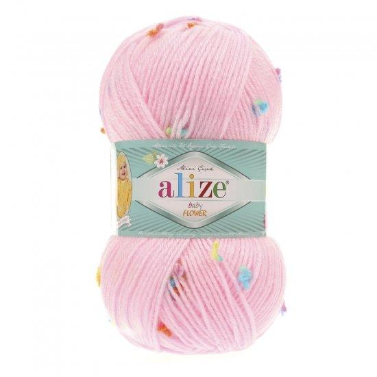 """пряжа alize baby flower 5381 ( ализе беби флауер ) вязаная детская одежда, игрушки, аксессуары для дома - в интернет-магазине """"пряжа-shop"""" 5644 priazha-shop.com 2"""
