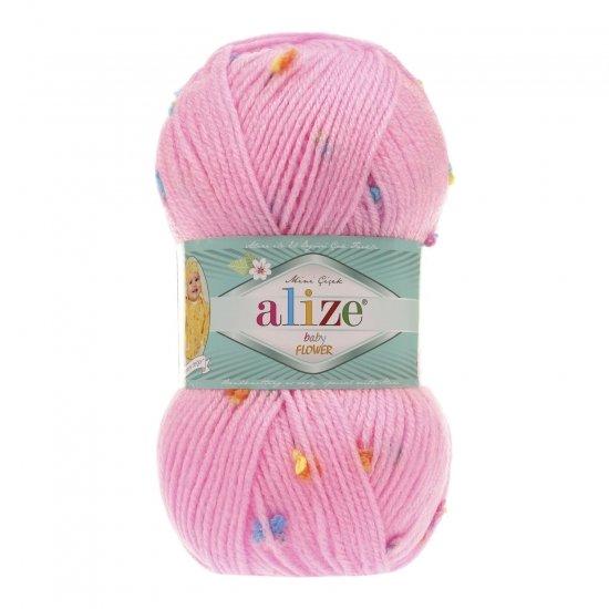 """пряжа alize baby flower 5382 ( ализе беби флауер ) вязаная детская одежда, игрушки, аксессуары для дома - в интернет-магазине """"пряжа-shop"""" 5645 priazha-shop.com 2"""