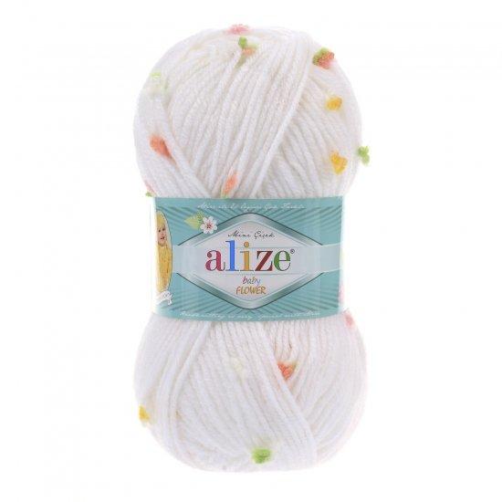 """пряжа alize baby flower 5408 ( ализе беби флауер ) вязаная детская одежда, игрушки, аксессуары для дома - в интернет-магазине """"пряжа-shop"""" 5652 priazha-shop.com 2"""
