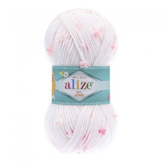 """пряжа alize baby flower 5516 ( ализе беби флауер ) вязаная детская одежда, игрушки, аксессуары для дома - в интернет-магазине """"пряжа-shop"""" 5664 priazha-shop.com 2"""