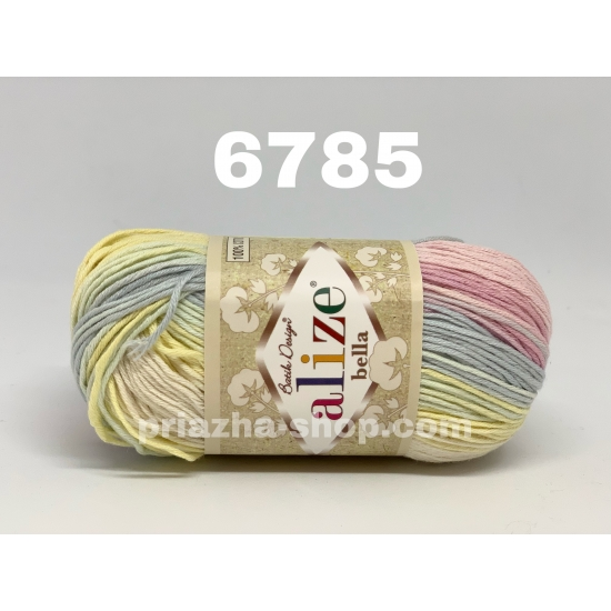 """пряжа alize bella batik 6785 ( ализе белла батик ) для летних кофточек и накидок, для взрослым и детей - купить в украине в интернет-магазине """"пряжа-shop"""" 456 priazha-shop.com 2"""