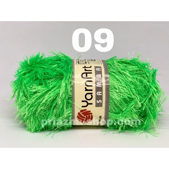 """пряжа yarnart samba 09 ( ярнарт самба ) для вязания зимней и летней одежды, аксессуаров необычных цветовых оттенков - купить в украине в интернет-магазине """"пряжа-shop"""" 2754 priazha-shop.com 2"""