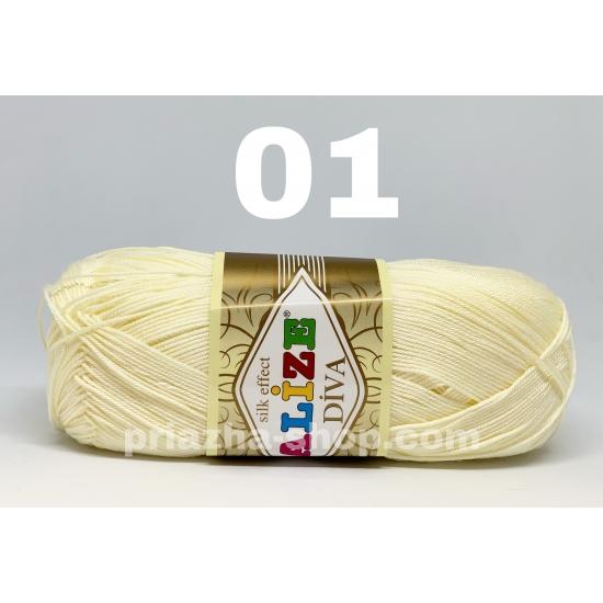 """пряжа alize diva 01 ( ализе дива ) для туник, кофточек, топов и прочих лёгких вещичек, подойдёт как взрослым так и детям - купить в украине в интернет-магазине """"пряжа-shop"""" 723 2"""