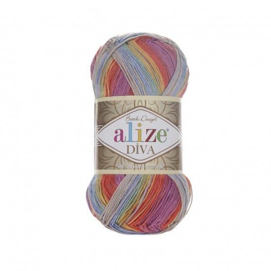 """пряжа alize diva batik 3242 ( ализе дива батик ) для туник, кофточек, топов и других легких нарядов для взрослых и детей - купить в украине в интернет-магазине """"пряжа-shop"""" 5970 priazha-shop.com 2"""