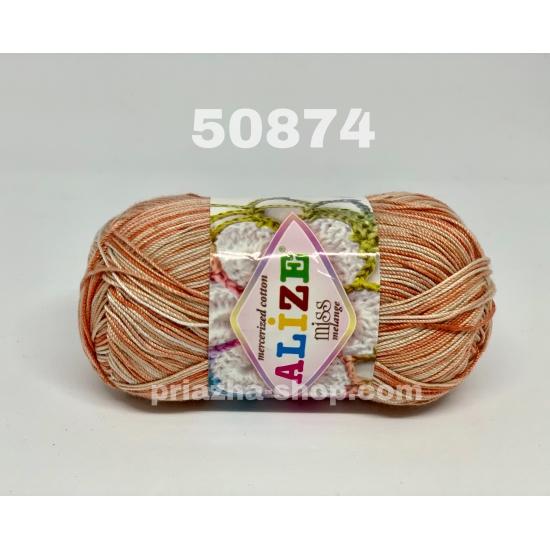 """пряжа alize miss batik 50874 ( ализе мисс батик ) для вязания крючком ажурных изделий, приятна для взрослых и идеальна для детей - купить в украине в интернет-магазине """"пряжа-shop"""" 170 priazha-shop.com 2"""
