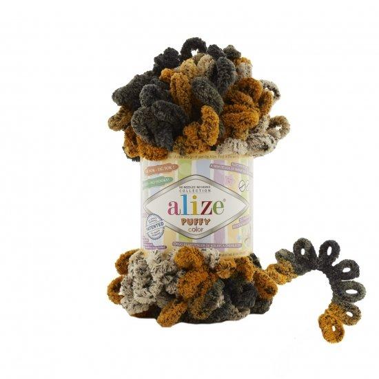 """пряжа alize puffy color 6082 ( ализе пуффи колор ) для вязания детских пледов, игрушек, декоративных подушек, шарфиков и различных аксессуаров красочных расцветок - купить в украине в интернет-магазине """"пряжа-shop"""" 4737 priazha-shop.com 2"""