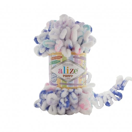 """пряжа alize puffy color 6245 ( ализе пуффи колор ) для вязания детских пледов, игрушек, декоративных подушек, шарфиков и различных аксессуаров красочных расцветок - купить в украине в интернет-магазине """"пряжа-shop"""" 4742 priazha-shop.com 2"""
