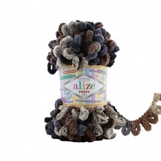 """пряжа alize puffy color 6257 ( ализе пуффи колор ) для вязания детских пледов, игрушек, декоративных подушек, шарфиков и различных аксессуаров красочных расцветок - купить в украине в интернет-магазине """"пряжа-shop"""" 4743 priazha-shop.com 2"""