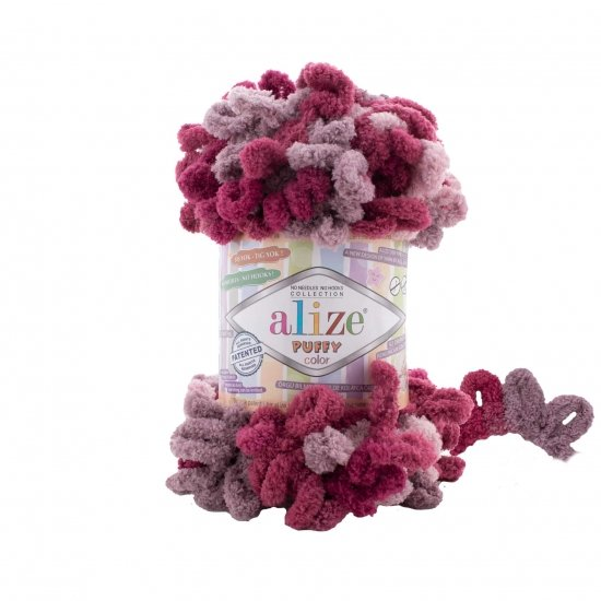 """пряжа alize puffy color 6259 ( ализе пуффи колор ) для вязания детских пледов, игрушек, декоративных подушек, шарфиков и различных аксессуаров красочных расцветок - купить в украине в интернет-магазине """"пряжа-shop"""" 4745 priazha-shop.com 2"""