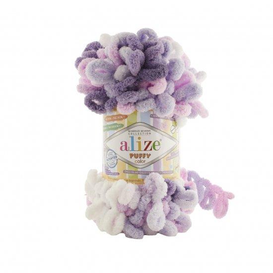 """пряжа alize puffy color 6305 ( ализе пуффи колор ) для вязания детских пледов, игрушек, декоративных подушек, шарфиков и различных аксессуаров красочных расцветок - купить в украине в интернет-магазине """"пряжа-shop"""" 4747 priazha-shop.com 2"""