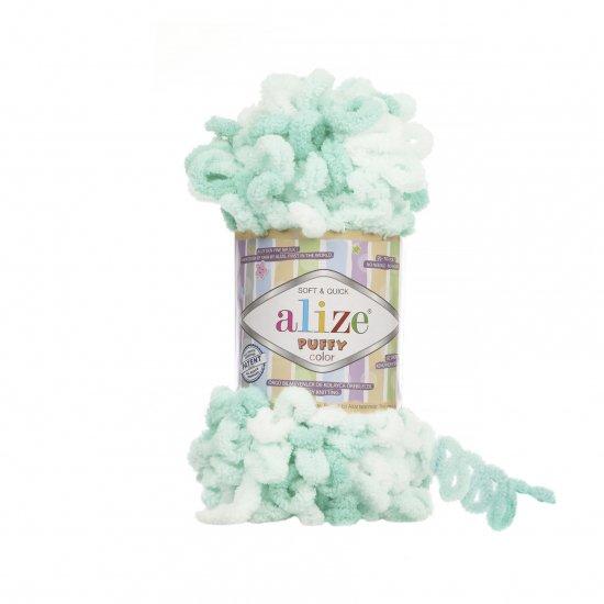 """пряжа alize puffy color 6341 ( ализе пуффи колор ) для вязания детских пледов, игрушек, декоративных подушек, шарфиков и различных аксессуаров красочных расцветок - купить в украине в интернет-магазине """"пряжа-shop"""" 4748 priazha-shop.com 2"""