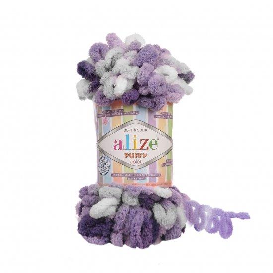 """пряжа alize puffy color 6342 ( ализе пуффи колор ) для вязания детских пледов, игрушек, декоративных подушек, шарфиков и различных аксессуаров красочных расцветок - купить в украине в интернет-магазине """"пряжа-shop"""" 4749 priazha-shop.com 2"""