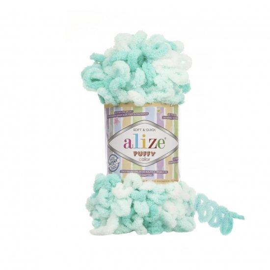 """пряжа alize puffy color 6343 ( ализе пуффи колор ) для вязания детских пледов, игрушек, декоративных подушек, шарфиков и различных аксессуаров красочных расцветок - купить в украине в интернет-магазине """"пряжа-shop"""" 4750 priazha-shop.com 2"""