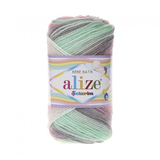 """пряжа alize sekerim batik 6541 ( ализе секерим батик ) для вязания шапок, накидок, пледов, шарфов, кофт, одежды, игрушек и аксессуаров - купить в украине в интернет-магазине """"пряжа-shop"""" 6175 priazha-shop.com 2"""