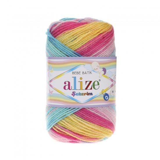"""пряжа alize sekerim batik 6550 ( ализе секерим батик ) для вязания шапок, накидок, пледов, шарфов, кофт, одежды, игрушек и аксессуаров - купить в украине в интернет-магазине """"пряжа-shop"""" 6177 priazha-shop.com 2"""