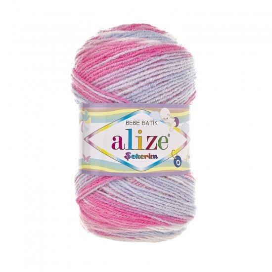 """пряжа alize sekerim batik 7253 ( ализе секерим батик ) для вязания шапок, накидок, пледов, шарфов, кофт, одежды, игрушек и аксессуаров - купить в украине в интернет-магазине """"пряжа-shop"""" 6179 priazha-shop.com 2"""