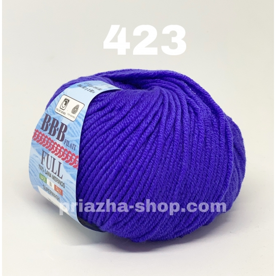 """пряжа bbb full 423 ( ббб фулл ) для вязания шапочек, джемперов, кардиганов, шарфиков, перчаток, различных аксессуаров - купить в украине в интернет-магазине """"пряжа-shop"""" 3305 priazha-shop.com 2"""