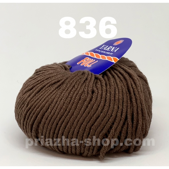 """пряжа bbb full 836 ( ббб фулл ) для вязания шапочек, джемперов, кардиганов, шарфиков, перчаток, различных аксессуаров - купить в украине в интернет-магазине """"пряжа-shop"""" 2413 priazha-shop.com 2"""