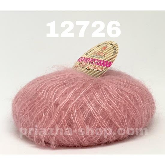 """пряжа bbb soft dream 12726 ( ббб софт дрим ) для вязания шалей, палантинов, платков, накидок, тонких ажурных пуловеров - купить в украине в интернет-магазине """"пряжа-shop"""" 2457 priazha-shop.com 2"""