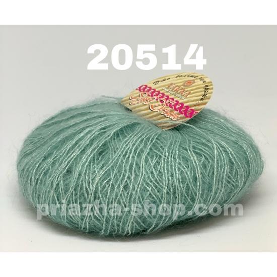 """пряжа bbb soft dream 20514 ( ббб софт дрим ) для вязания шалей, палантинов, платков, накидок, тонких ажурных пуловеров - купить в украине в интернет-магазине """"пряжа-shop"""" 2494 priazha-shop.com 2"""
