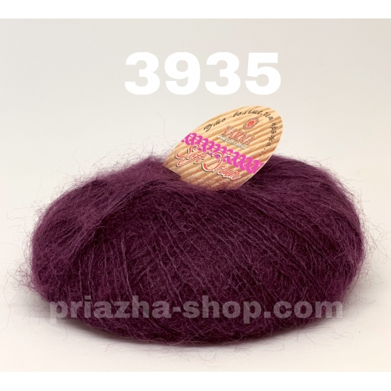 """пряжа bbb soft dream 3935 ( ббб софт дрим ) для вязания шалей, палантинов, платков, накидок, тонких ажурных пуловеров - купить в украине в интернет-магазине """"пряжа-shop"""" 2977 priazha-shop.com 2"""