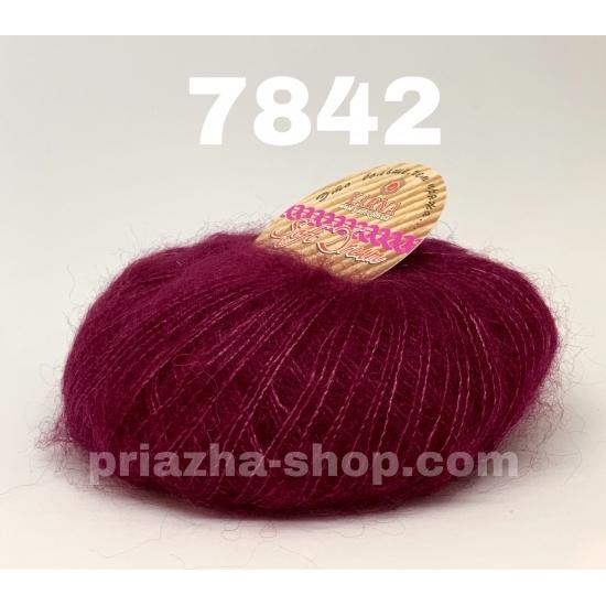 """пряжа bbb soft dream 7842 ( ббб софт дрим ) для вязания шалей, палантинов, платков, накидок, тонких ажурных пуловеров - купить в украине в интернет-магазине """"пряжа-shop"""" 2982 priazha-shop.com 2"""