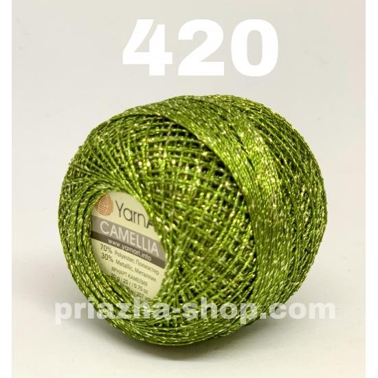 """пряжа yarnart camellia 420 ( ярнарт камелия ) для вязания одежды, декора, отделки с большим выбором цветов - с доставкой по украине в интернет-магазине """"пряжа-shop"""" 2646 priazha-shop.com 2"""