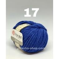 """пряжа yarnart jeans 33 ( ярнарт джинс ) для вязания одежды взрослым и детям, ажурных изделий, игрушек и аксессуаров разнообразніх оттенков - купить в украине в интернет-магазине """"пряжа-shop"""" 643 priazha-shop.com 33"""