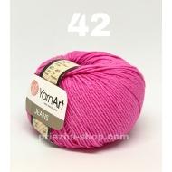 """пряжа yarnart jeans 68 ( ярнарт джинс ) для вязания одежды взрослым и детям, ажурных изделий, игрушек и аксессуаров разнообразніх оттенков - купить в украине в интернет-магазине """"пряжа-shop"""" 625 priazha-shop.com 3"""