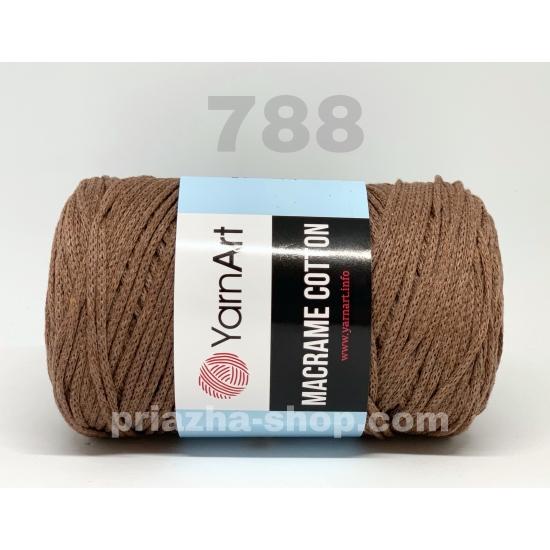 """пряжа yarnart macrame cotton 788 ( ярнарт макраме коттон ) для вязания сумок и аксессуаров с большим выбором цветов - купить в украине в интернет-магазине """"пряжа-shop"""" 3284 priazha-shop.com 2"""
