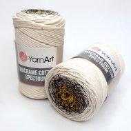 """пряжа yarnart macrame cotton spectrum 1318 ( ярнарт макраме коттон спектрум ) для вязания и плетения сумок, клатчей, ковриков, дорожек, салфеток, корзинок, игрушек невероятных оттенков - купить в украине в интернет-магазине """"пряжа-shop"""" 6478 priazha-shop.com 4"""