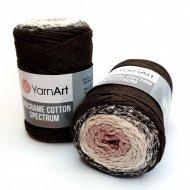 """пряжа yarnart macrame cotton spectrum 1318 ( ярнарт макраме коттон спектрум ) для вязания и плетения сумок, клатчей, ковриков, дорожек, салфеток, корзинок, игрушек невероятных оттенков - купить в украине в интернет-магазине """"пряжа-shop"""" 6478 priazha-shop.com 5"""