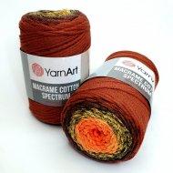 """пряжа yarnart macrame cotton spectrum 1318 ( ярнарт макраме коттон спектрум ) для вязания и плетения сумок, клатчей, ковриков, дорожек, салфеток, корзинок, игрушек невероятных оттенков - купить в украине в интернет-магазине """"пряжа-shop"""" 6478 priazha-shop.com 6"""