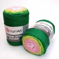 """пряжа yarnart macrame cotton spectrum 1318 ( ярнарт макраме коттон спектрум ) для вязания и плетения сумок, клатчей, ковриков, дорожек, салфеток, корзинок, игрушек невероятных оттенков - купить в украине в интернет-магазине """"пряжа-shop"""" 6478 priazha-shop.com 11"""