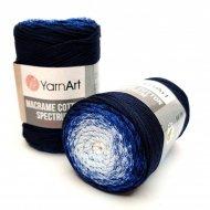 """пряжа yarnart macrame cotton spectrum 1318 ( ярнарт макраме коттон спектрум ) для вязания и плетения сумок, клатчей, ковриков, дорожек, салфеток, корзинок, игрушек невероятных оттенков - купить в украине в интернет-магазине """"пряжа-shop"""" 6478 priazha-shop.com 17"""