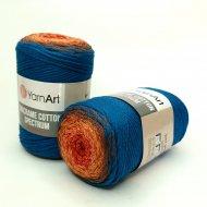 """пряжа yarnart macrame cotton spectrum 1318 ( ярнарт макраме коттон спектрум ) для вязания и плетения сумок, клатчей, ковриков, дорожек, салфеток, корзинок, игрушек невероятных оттенков - купить в украине в интернет-магазине """"пряжа-shop"""" 6478 priazha-shop.com 18"""
