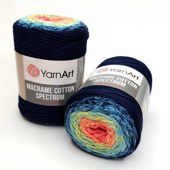 """пряжа yarnart macrame cotton spectrum 1318 ( ярнарт макраме коттон спектрум ) для вязания и плетения сумок, клатчей, ковриков, дорожек, салфеток, корзинок, игрушек невероятных оттенков - купить в украине в интернет-магазине """"пряжа-shop"""" 6478 priazha-shop.com 2"""