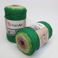 """пряжа yarnart macrame cotton spectrum 1318 ( ярнарт макраме коттон спектрум ) для вязания и плетения сумок, клатчей, ковриков, дорожек, салфеток, корзинок, игрушек невероятных оттенков - купить в украине в интернет-магазине """"пряжа-shop"""" 6478 priazha-shop.com 22"""
