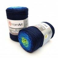 """пряжа yarnart macrame cotton spectrum 1318 ( ярнарт макраме коттон спектрум ) для вязания и плетения сумок, клатчей, ковриков, дорожек, салфеток, корзинок, игрушек невероятных оттенков - купить в украине в интернет-магазине """"пряжа-shop"""" 6478 priazha-shop.com 23"""