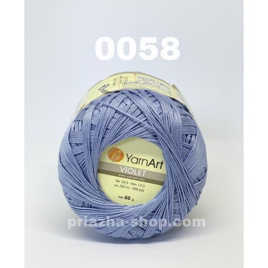 """пряжа yarnart violet 0058 ( ярнарт виолет ) для вязания одежды взрослым и детям, ажурных изделий и аксессуаров всех цветов радуги - купить в украине в интернет-магазине """"пряжа-shop"""" 333 priazha-shop.com 2"""